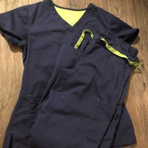 Small Med Couture Navy Blue Scrubs